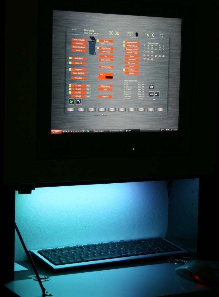 Farbige Tastaturbeleuchtung