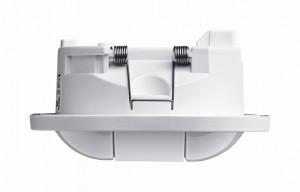 Die neue Generation Präsenzmelder zeichnet sich – insbesondere bei der Unterputz-Installation – durch eine extrem flache Bauform aus. Für die Aufputzmontage sind spezielle Gehäuse verfügbar.
