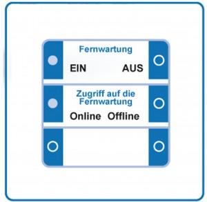 Per KNX Taster VPN-Wartungszugang freischalten und überwachen.