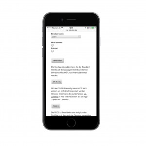 Per Smartphone vollständig konfigurierbar