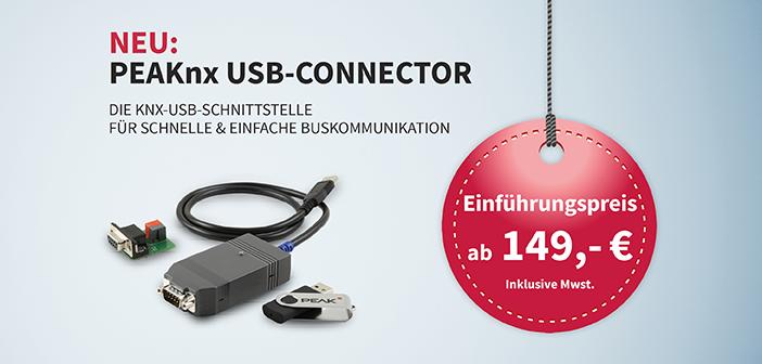 PEAKnx: USB-Connector für die schnelle und einfache Buskommunikation