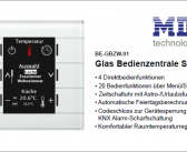 MDT Glas Bedienzentrale Smart mit Farbdisplay